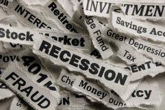 Recessie Royalty-vrije Stock Afbeelding