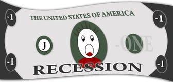 Recessie in Verenigde Staten royalty-vrije stock foto's