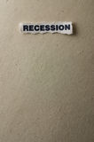 Recession. Picture with the concept of recession Stock Photos