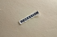 Recession. Picture with the concept of recession Stock Image