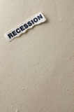 Recession. Picture with the concept of recession Stock Photo