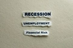 Recession royalty free stock photography