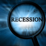 Recession royalty free illustration