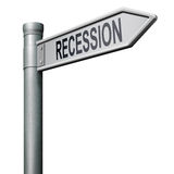 Recession bank or financial crisis stock crash. Way to recession financial or bank crisis and stock crash deflation and depression Stock Images