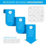 Recession Business Infographic Concept. royalty free illustration