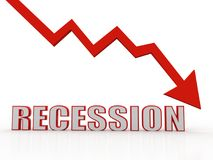 Recession Concept. 3D Rendering stock illustration