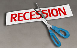 Recession concept Royalty Free Stock Photography