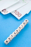 Recession - Crossword Puzzle Royalty Free Stock Photo