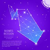 The recession and decline business geometric art concept royalty free illustration