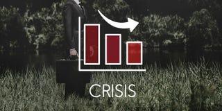 Recession Decrease Business Bar chart Concept Royalty Free Stock Photos