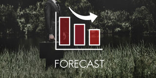 Recession Decrease Business Barchart Concept Royalty Free Stock Images