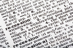 Recession Definition Stock Photos