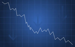 Recession diagram Royalty Free Stock Image