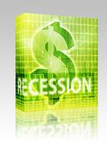 Recession Finance illustration box package. Software package box Recession Finance illustration, dollar symbol over financial design Stock Photography