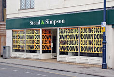 Recession forces shop closures Royalty Free Stock Image