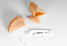 Recession in Fortune Cookie Royalty Free Stock Photos