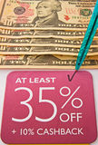Recession: price reduction and cash back offer. royalty free stock photos
