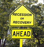 Recession or recovery sign. Stock Images