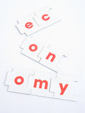 Recession: shattered economy. Royalty Free Stock Image