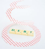 Recession: Spiraling debt Royalty Free Stock Photography
