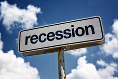 Recession street sign Stock Photography