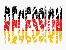 Recession text German flag Stock Photos