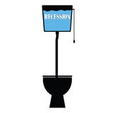 Recession on toilet vector Stock Photo