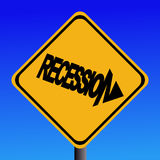 Recession warning sign Stock Photos