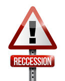 Recession warning sign illustration design Stock Photos