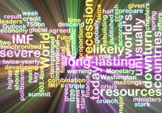 Recession wordcloud glowing Royalty Free Stock Image