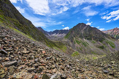 Recessional moraine. Geomorphology Royalty Free Stock Photo