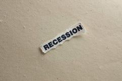 Recessione Immagine Stock