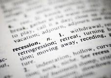 Recessione fotografie stock