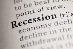 recessione fotografia stock
