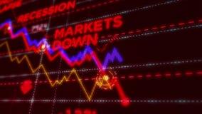 Recessione e crisi di riserva illustrazione di stock