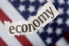 Recessione economica fotografia stock libera da diritti