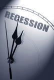 Recessione economica fotografia stock