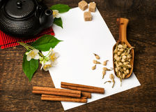Receta asiática del té Foto de archivo