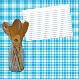Receta blanca y azul de la tela escocesa Fotos de archivo libres de regalías