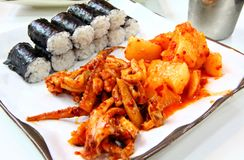 Receta coreana del sushi foto de archivo