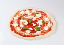 Receta de la pizza Imagen de archivo libre de regalías