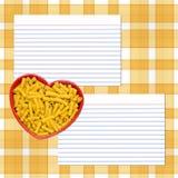 Receta de las pastas del amor Imagen de archivo libre de regalías