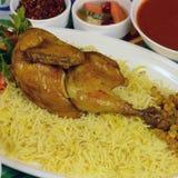 Receta del arroz del pollo de Kapsa Fotografía de archivo libre de regalías