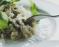 receta del risotto de la seta fotos de archivo