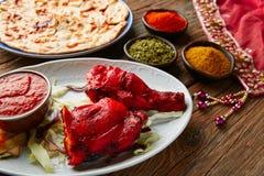 Receta india de Tandoori del pollo con las especias Imágenes de archivo libres de regalías
