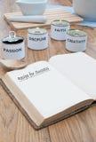 Receta para el éxito Imágenes de archivo libres de regalías