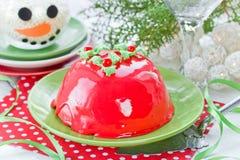 Receta tradicional del pudín de la Navidad Fotos de archivo