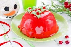 Receta tradicional del pudín de la Navidad Fotografía de archivo