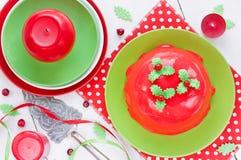 Receta tradicional del pudín de la Navidad Imagenes de archivo