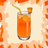 Receta tropical de la bebida del verano del jugo fresco del melón Elemento del men? para el caf? o restaurante con la bebida fres libre illustration